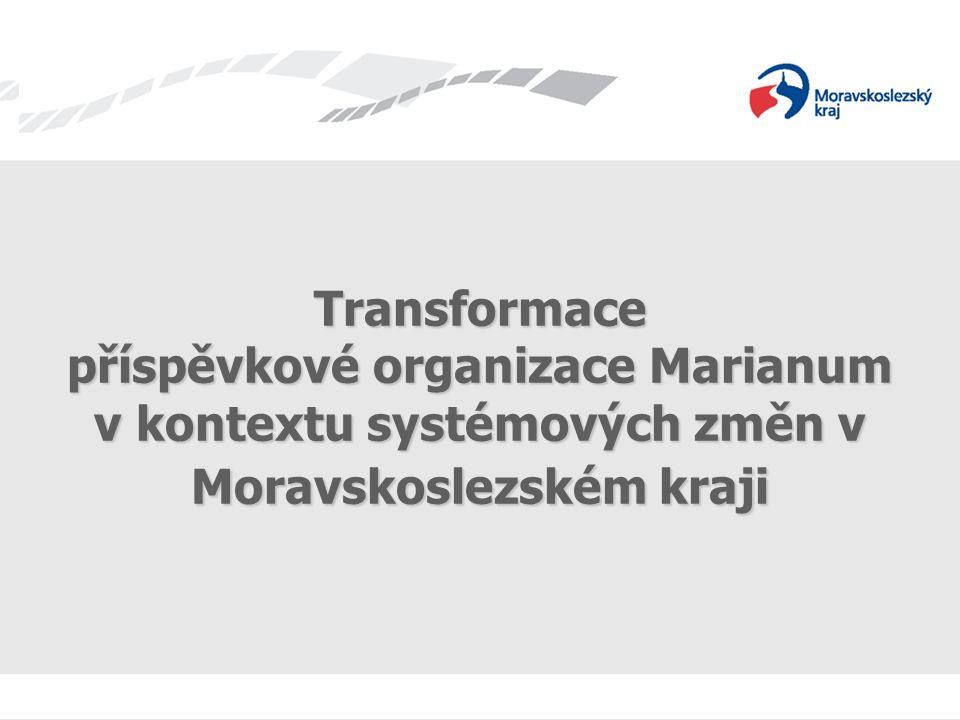 příspěvkové organizace Marianum v kontextu systémových změn v