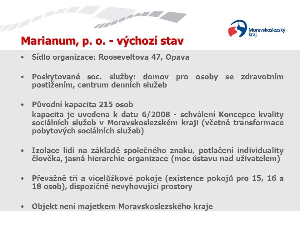 Marianum, p. o. - výchozí stav