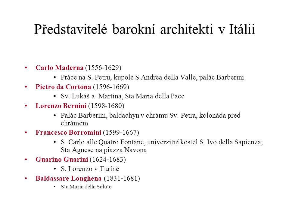 Představitelé barokní architekti v Itálii