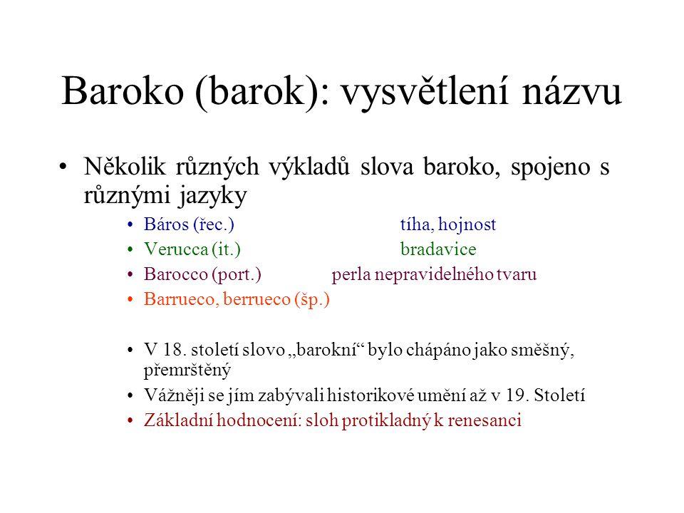 Baroko (barok): vysvětlení názvu