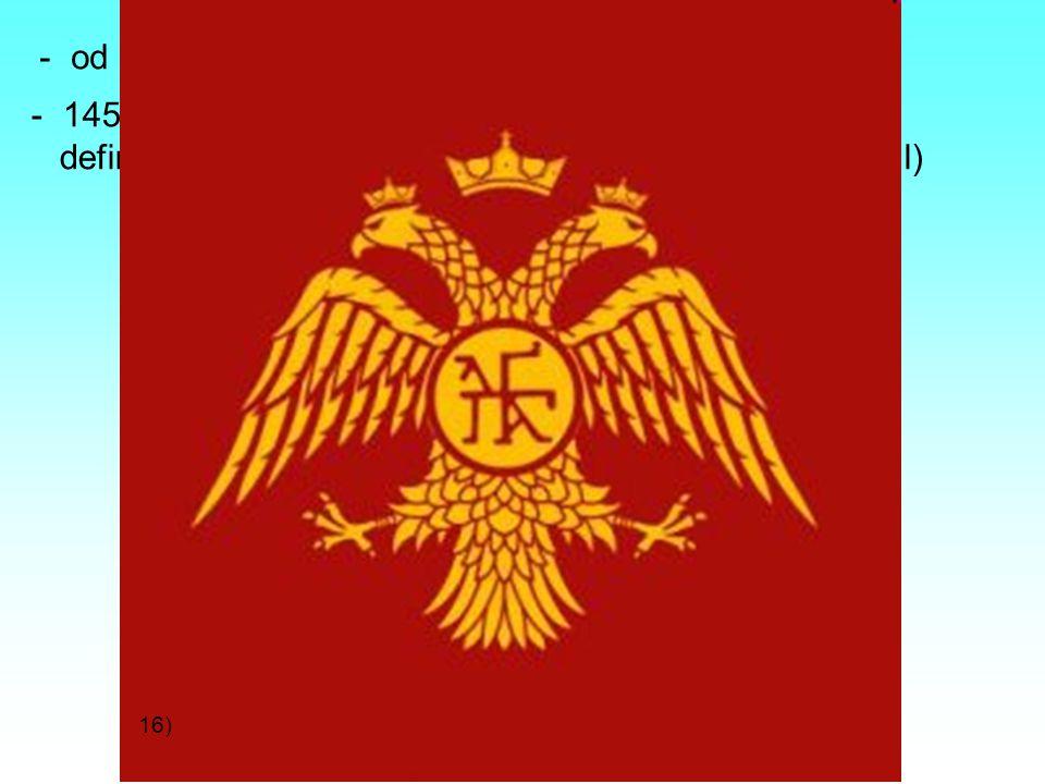 od 11. století útoky Turků, postupný úpadek říše