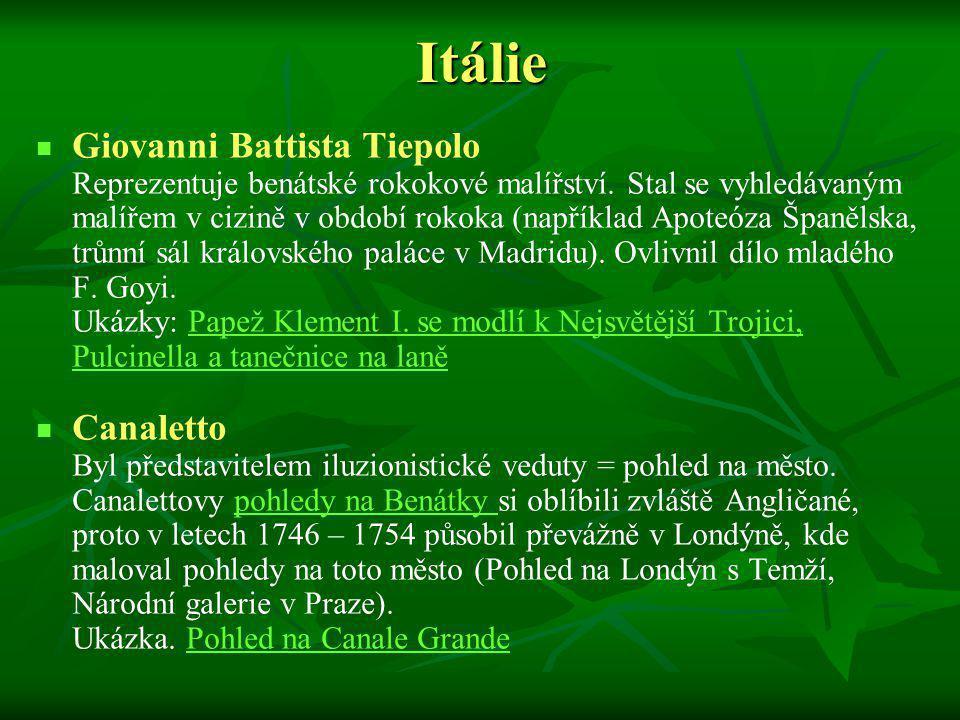 Itálie Giovanni Battista Tiepolo Canaletto
