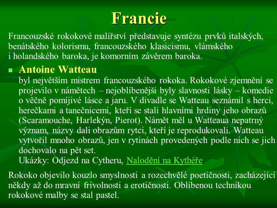 Francie Antoine Watteau