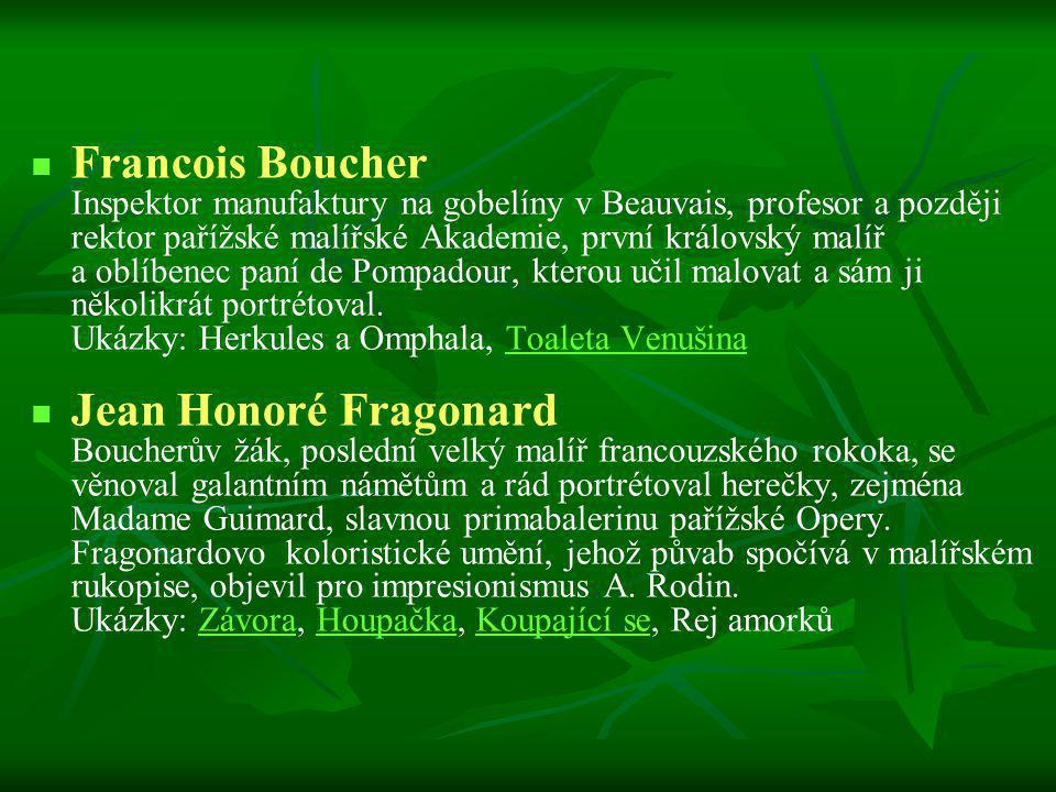Francois Boucher Jean Honoré Fragonard