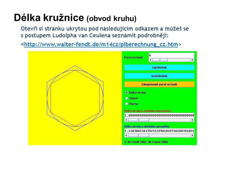 Délka kružnice (obvod kruhu)