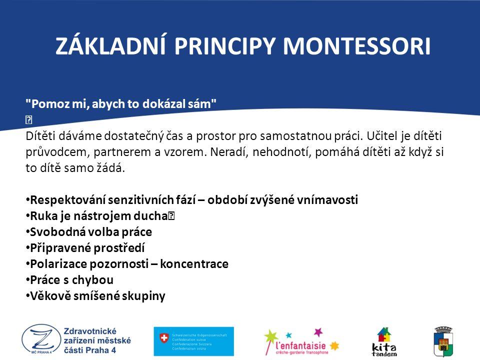 ZÁKLADNÍ PRINCIPY MONTESSORI