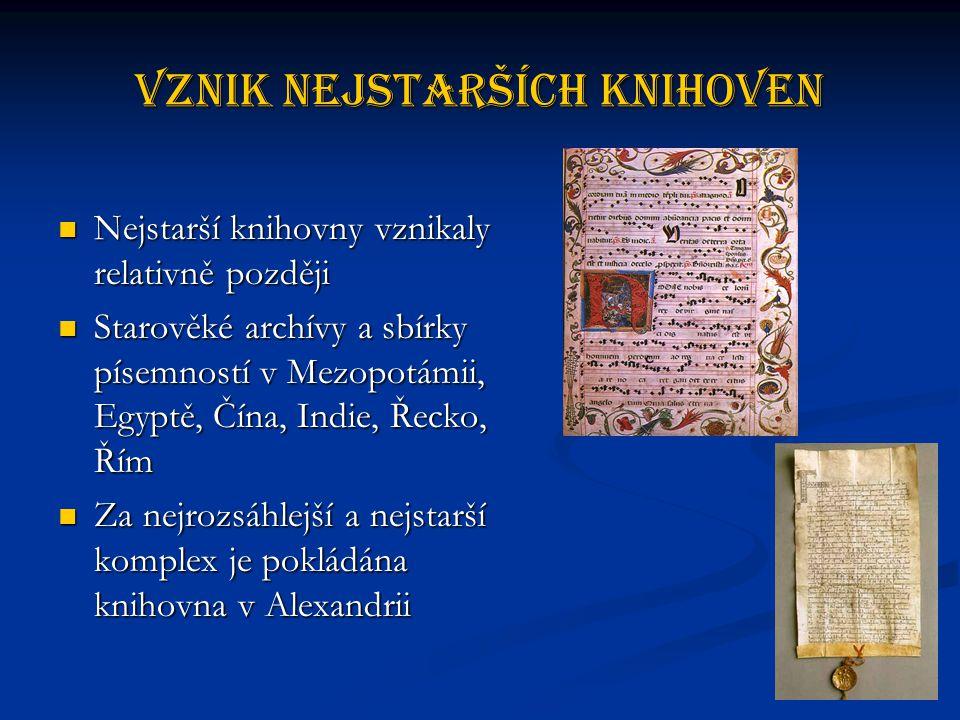 Vznik nejstarších knihoven