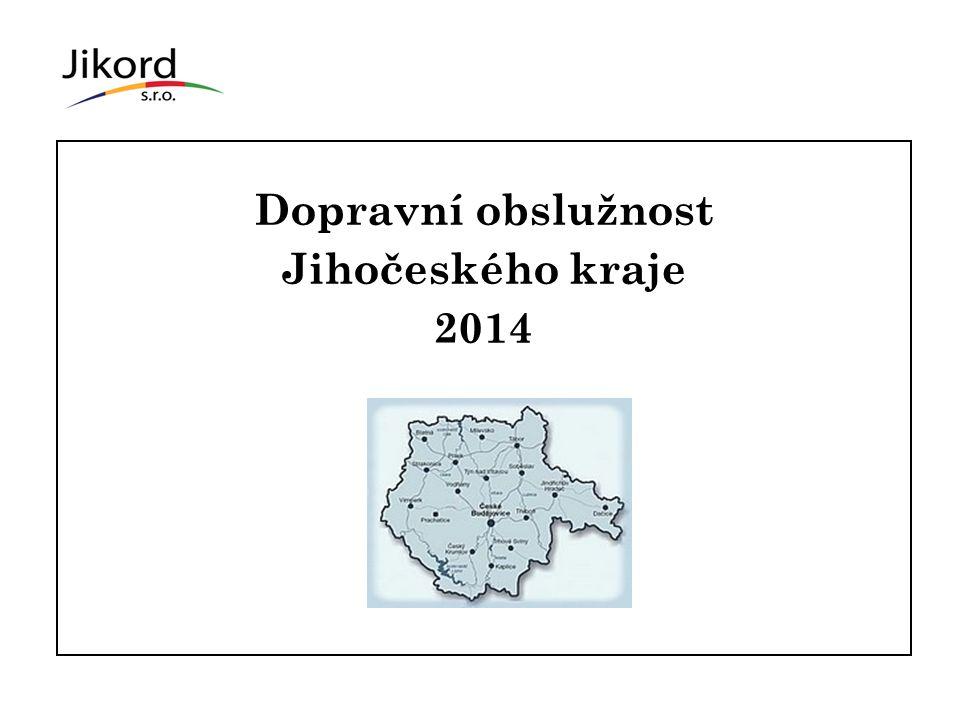 Dopravní obslužnost Jihočeského kraje 2014