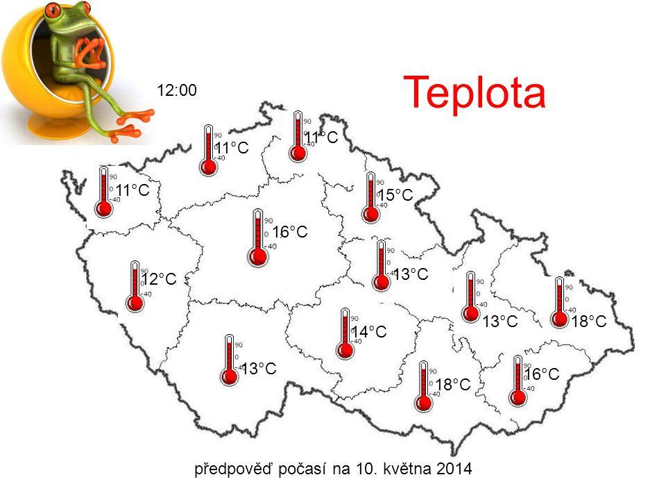 předpověď počasí na 10. května 2014