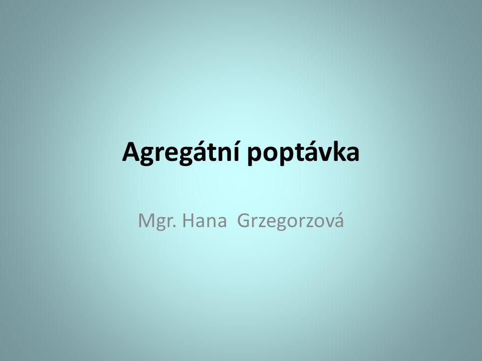 Agregátní poptávka Mgr. Hana Grzegorzová