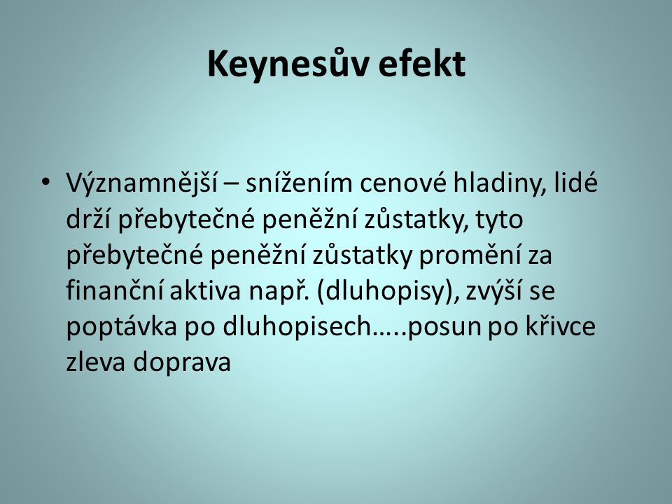 Keynesův efekt