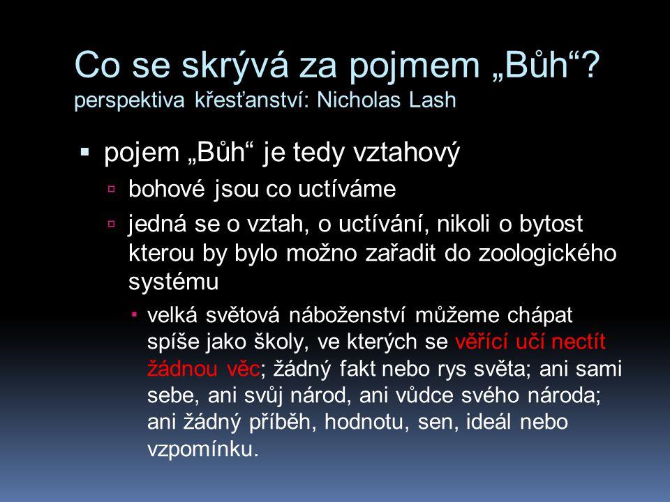 """Co se skrývá za pojmem """"Bůh perspektiva křesťanství: Nicholas Lash"""