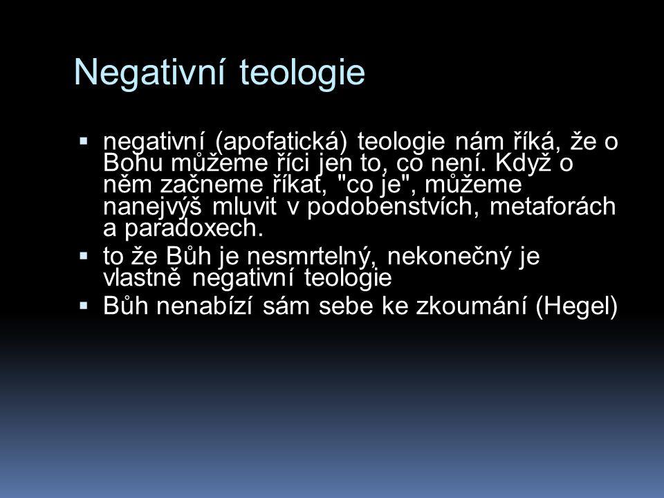 Negativní teologie