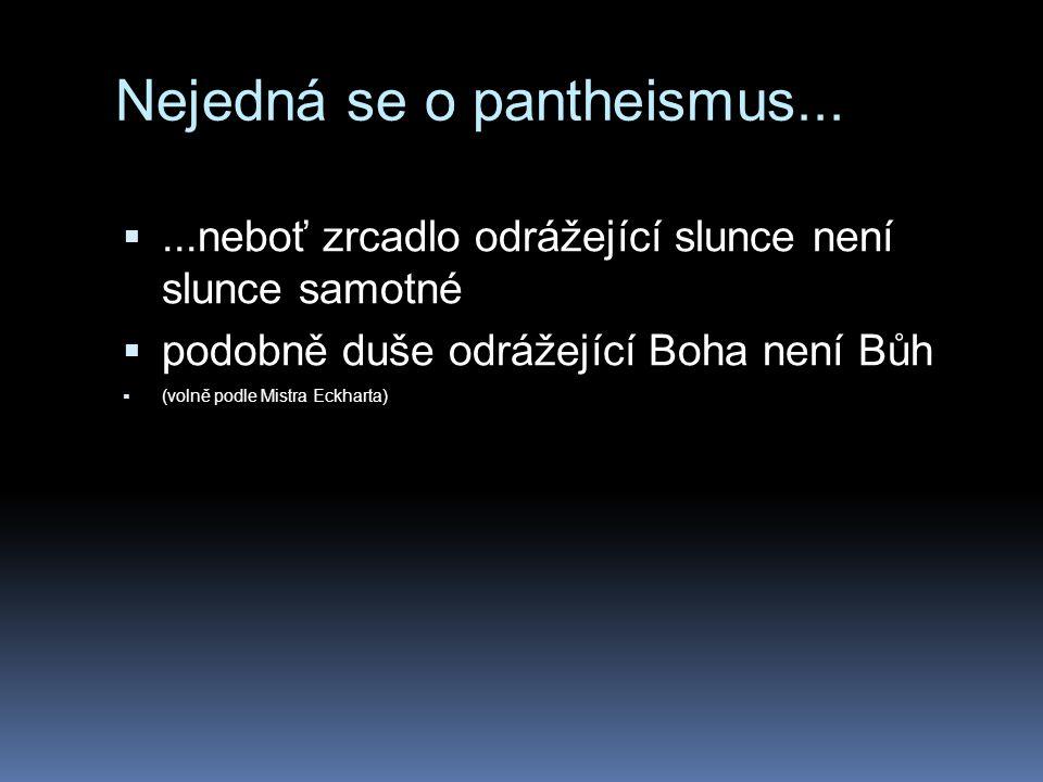 Nejedná se o pantheismus...