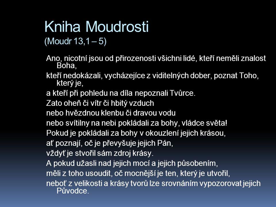 Kniha Moudrosti (Moudr 13,1 – 5)