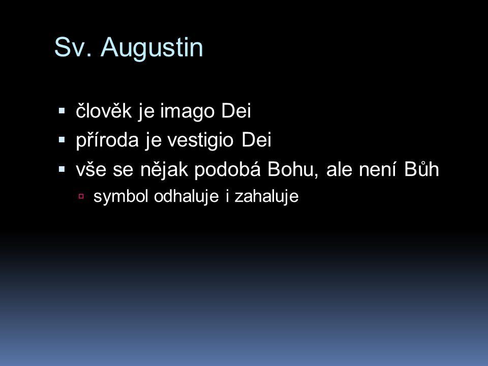 Sv. Augustin člověk je imago Dei příroda je vestigio Dei