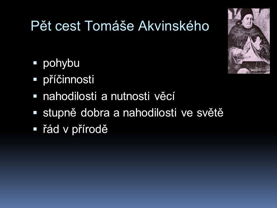 Pět cest Tomáše Akvinského