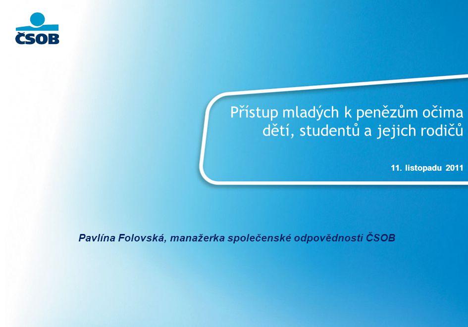 Pavlína Folovská, manažerka společenské odpovědnosti ČSOB