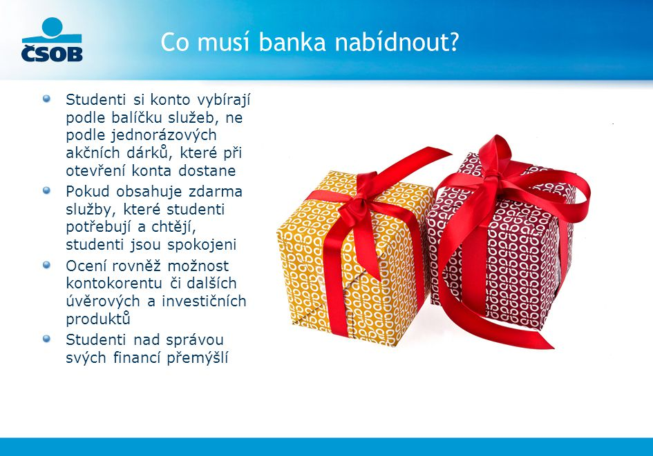 Co musí banka nabídnout