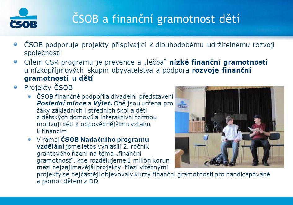 ČSOB a finanční gramotnost dětí