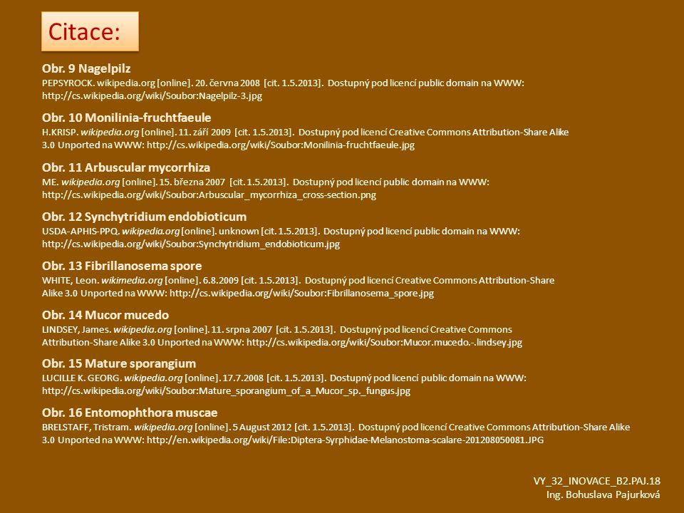 Citace: Obr. 9 Nagelpilz Obr. 10 Monilinia-fruchtfaeule