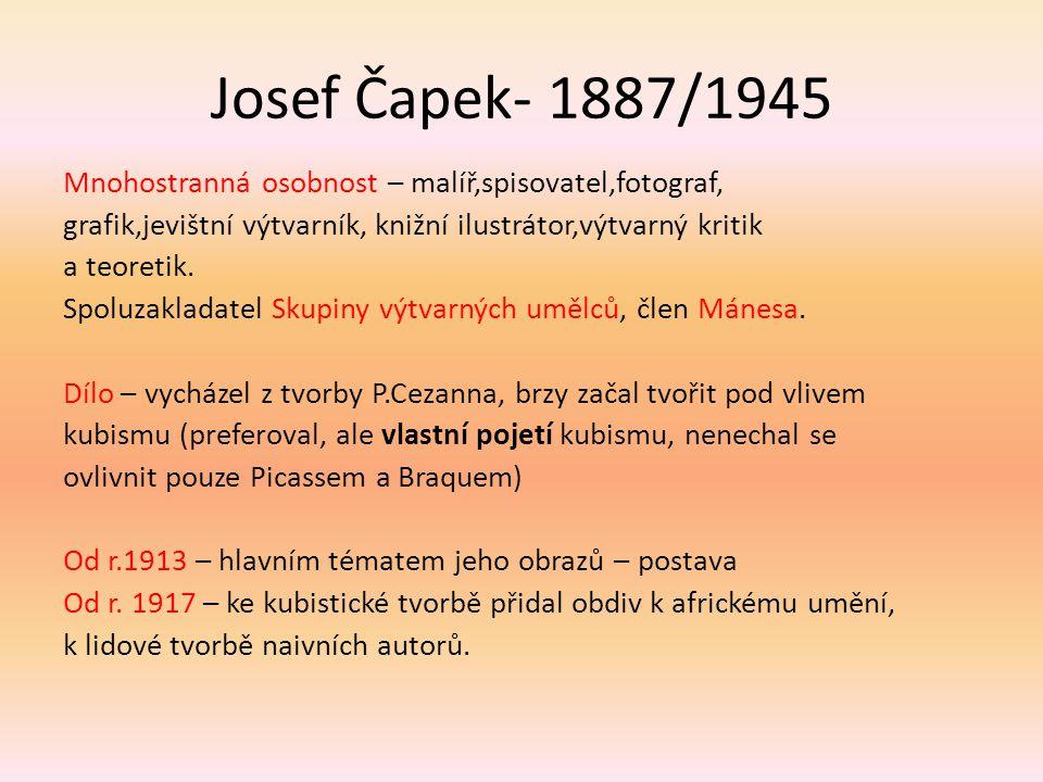Josef Čapek- 1887/1945