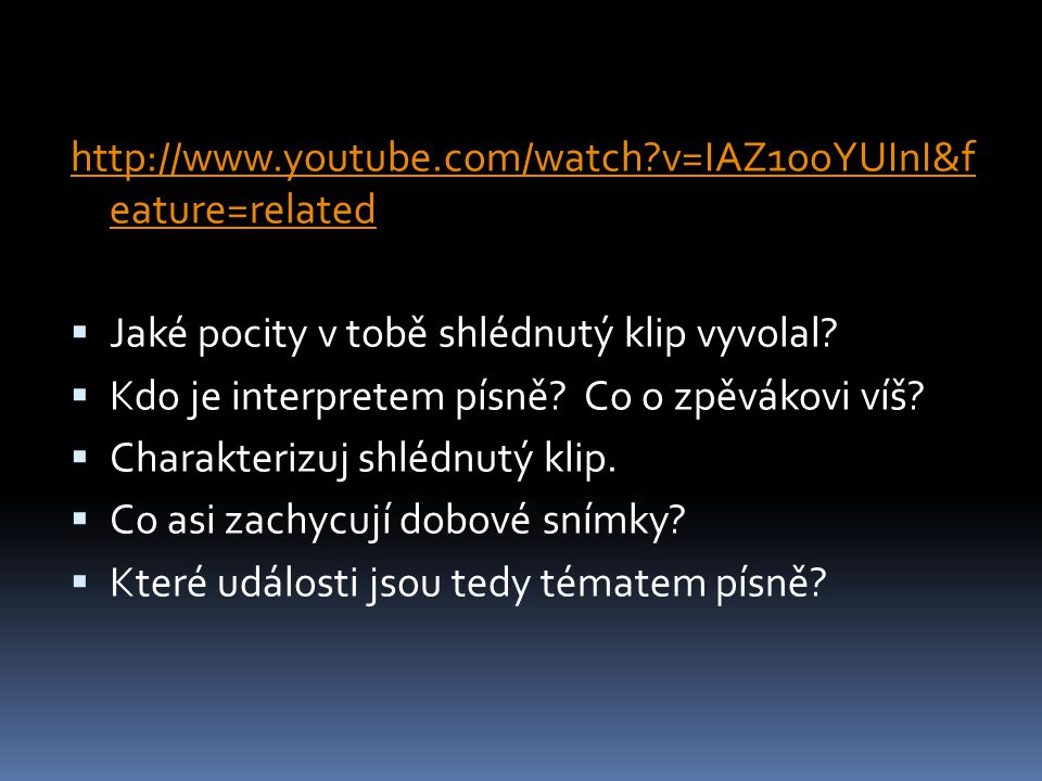 http://www.youtube.com/watch v=IAZ1ooYUInI&f eature=related