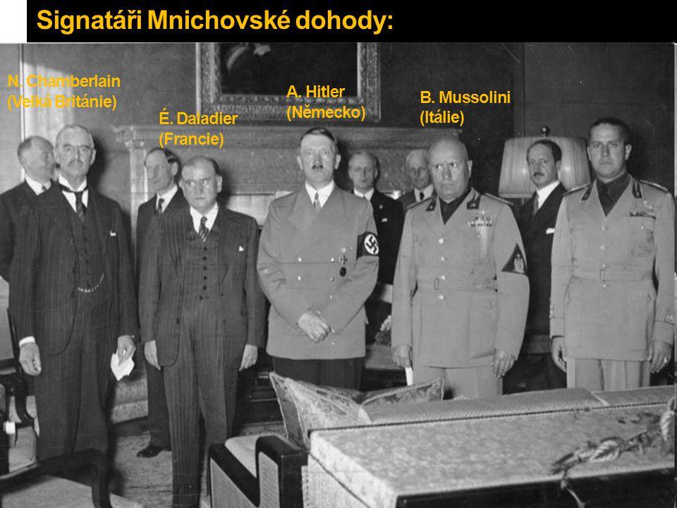Signatáři Mnichovské dohody: