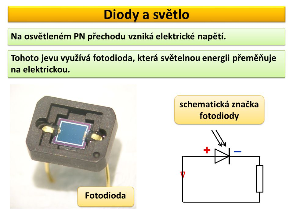 schematická značka fotodiody