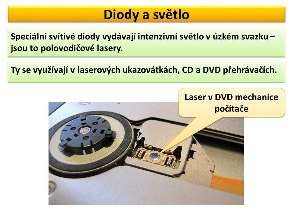 Laser v DVD mechanice počítače