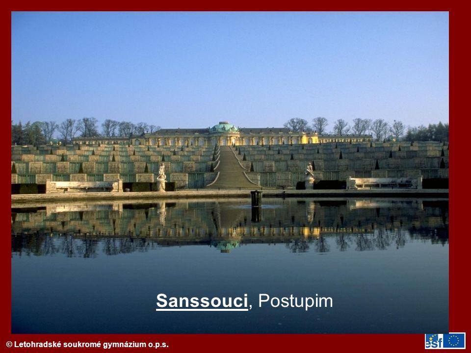 Sanssouci, Postupim
