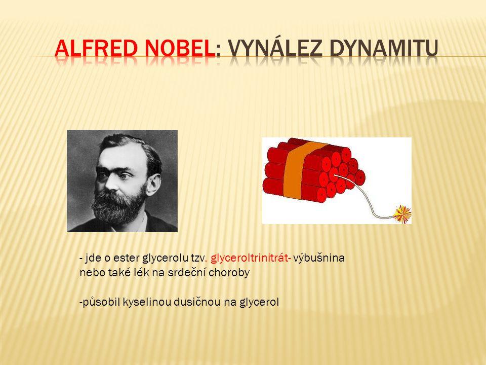 Alfred Nobel: vynález dynamitu