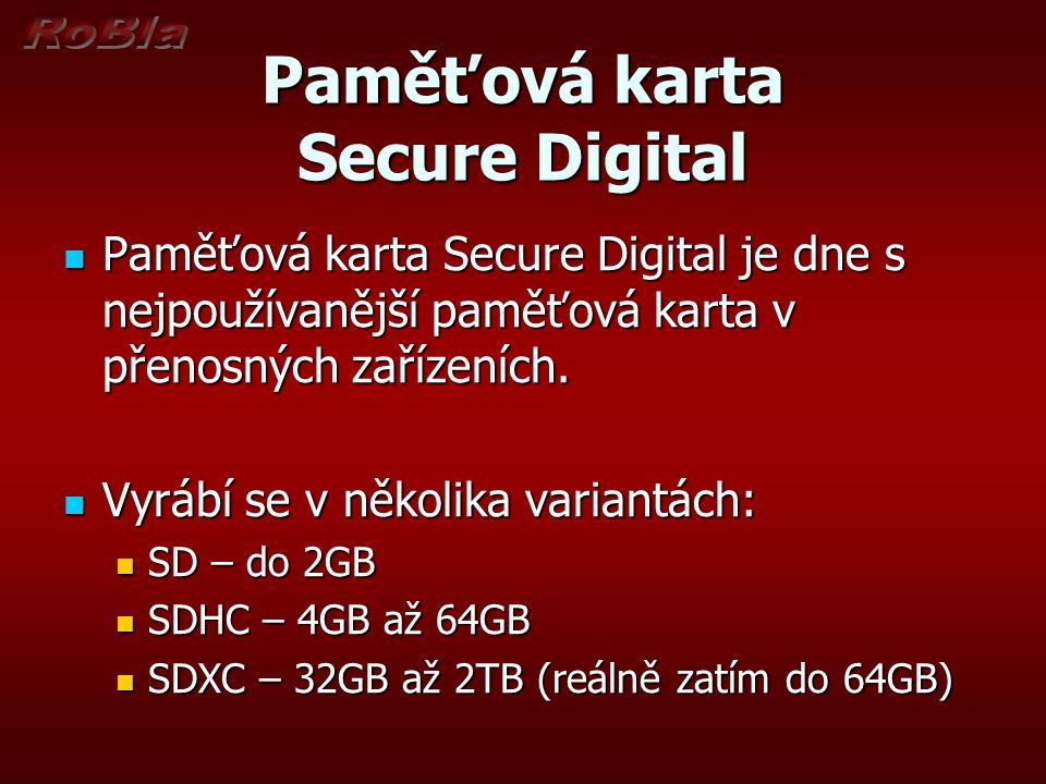 Paměťová karta Secure Digital