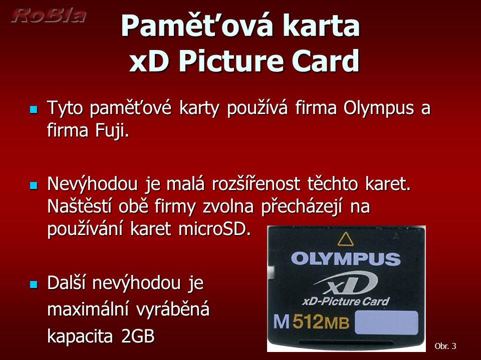 Paměťová karta xD Picture Card