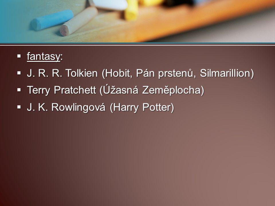fantasy: J. R. R.
