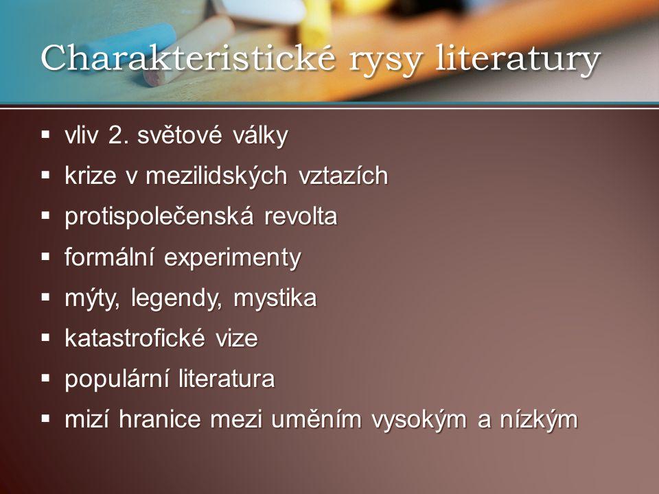 Charakteristické rysy literatury