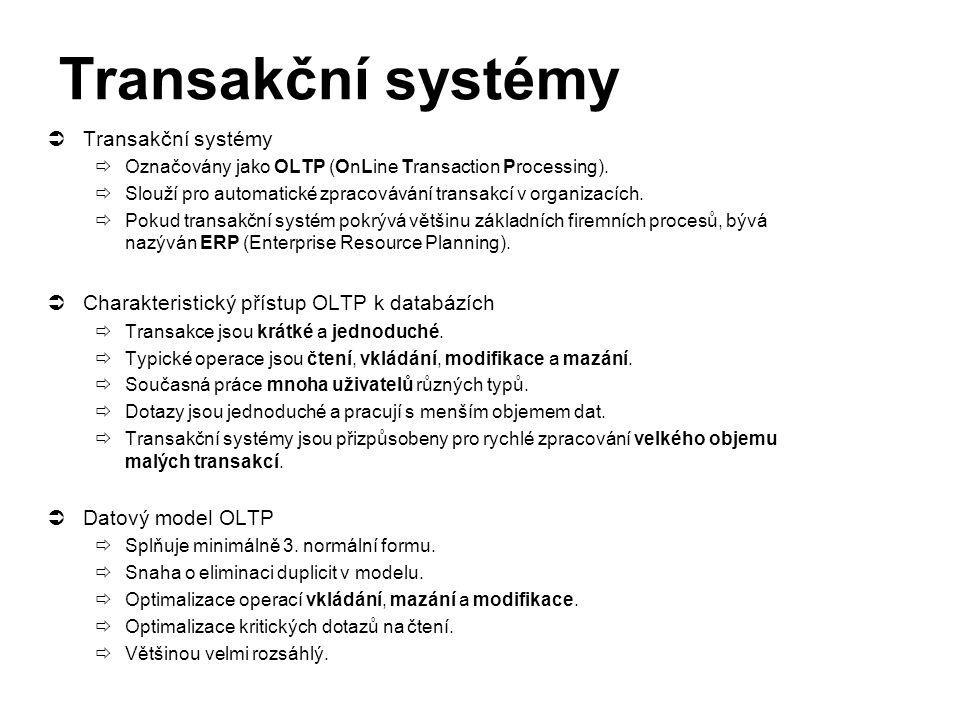 Transakční systémy Transakční systémy