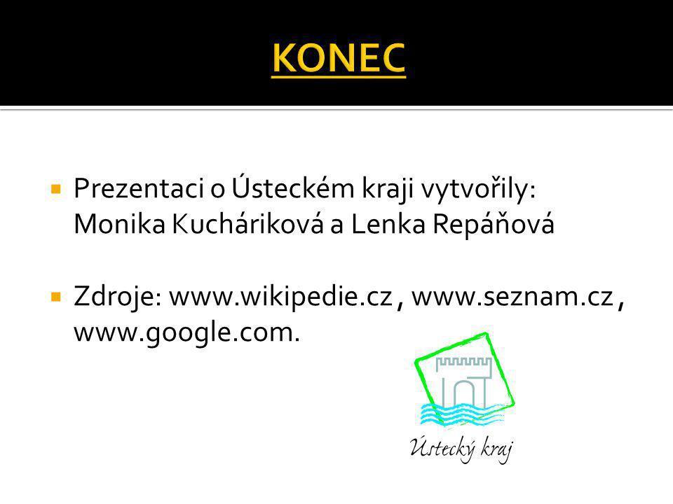 KONEC Prezentaci o Ústeckém kraji vytvořily: Monika Kucháriková a Lenka Repáňová.