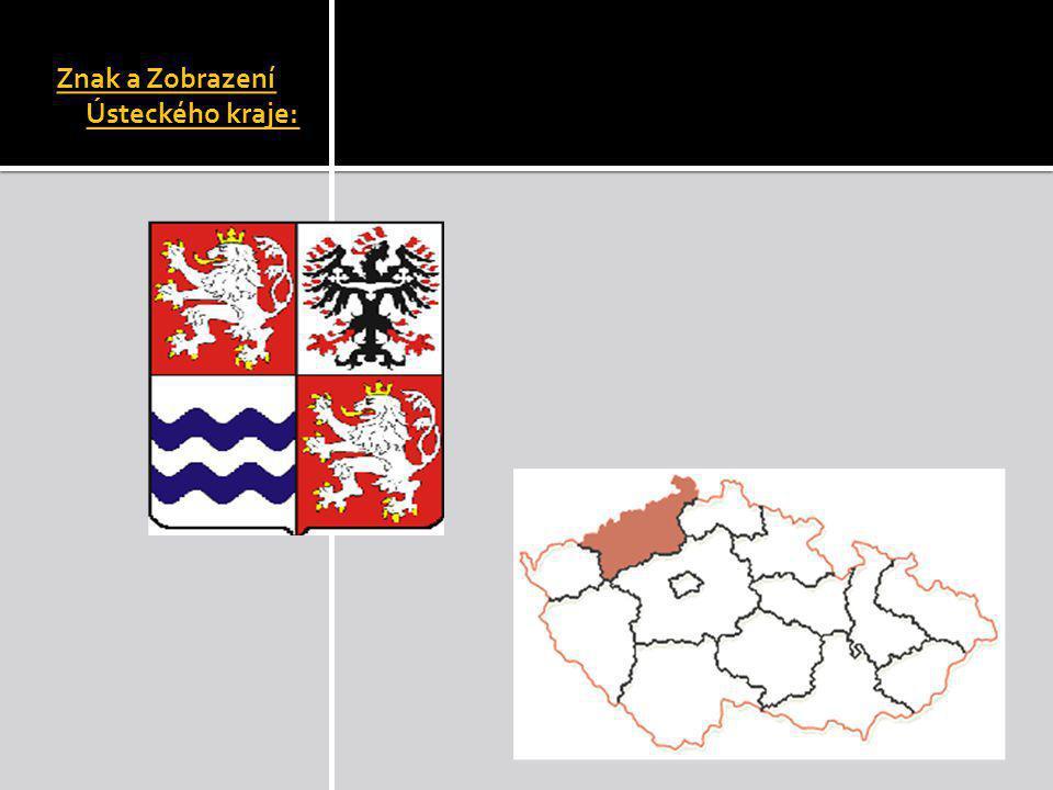 Znak a Zobrazení Ústeckého kraje: