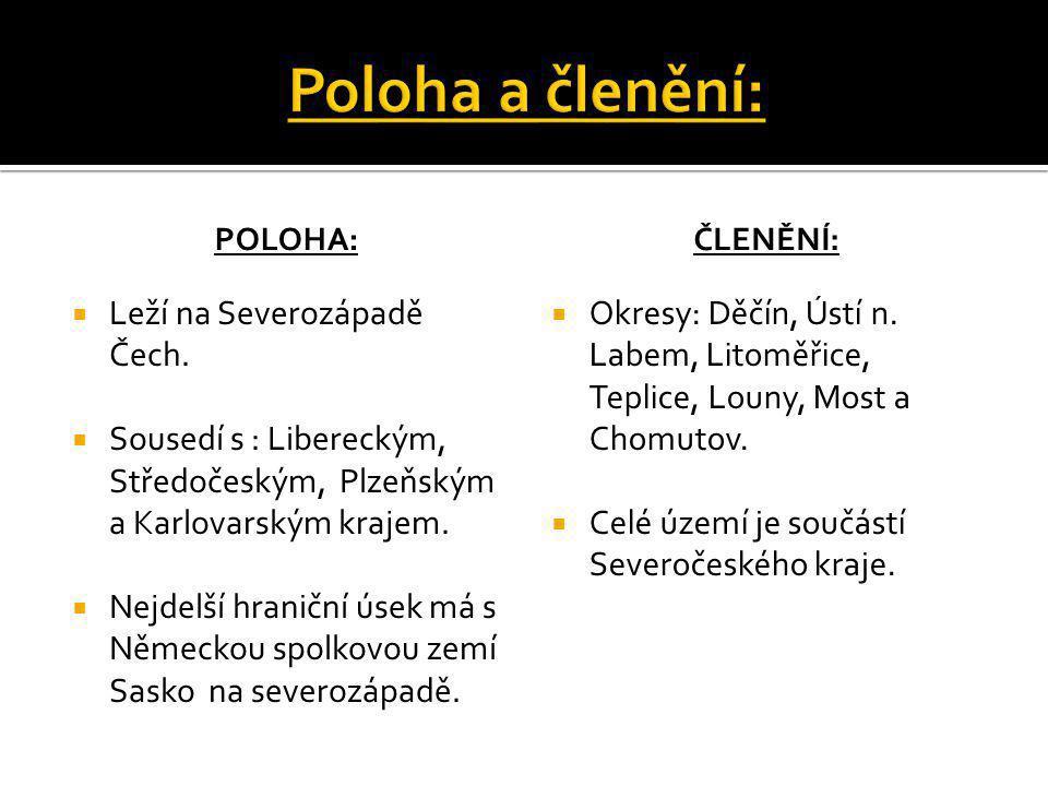 Poloha a členění: Leží na Severozápadě Čech.