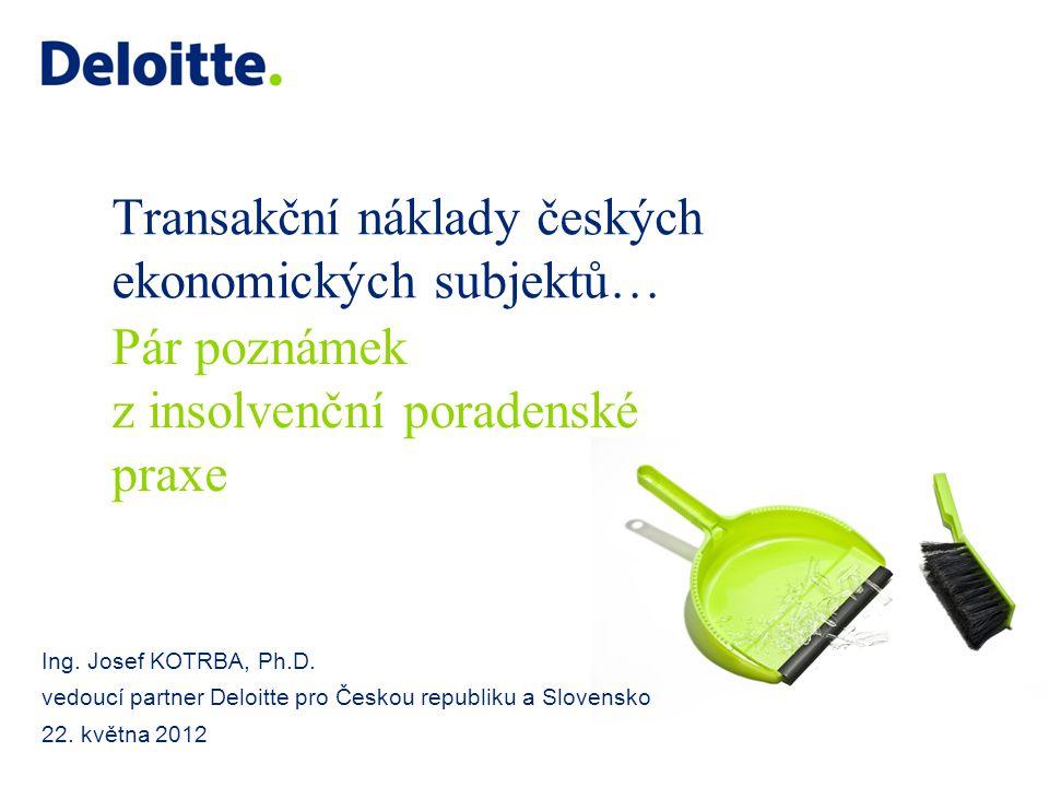 Transakční náklady českých ekonomických subjektů…