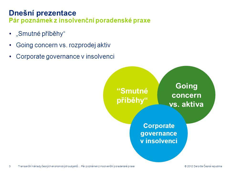 Dnešní prezentace Pár poznámek z insolvenční poradenské praxe