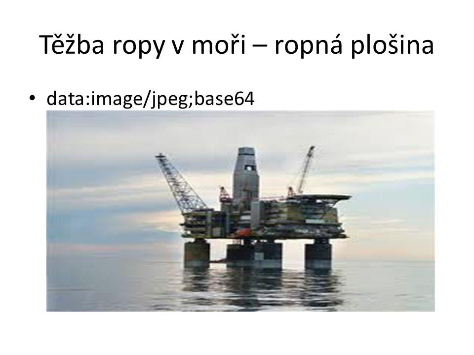 Těžba ropy v moři – ropná plošina
