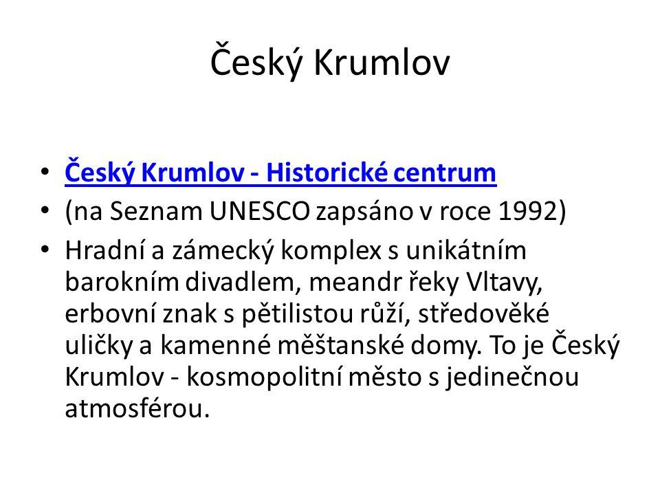 Český Krumlov Český Krumlov - Historické centrum