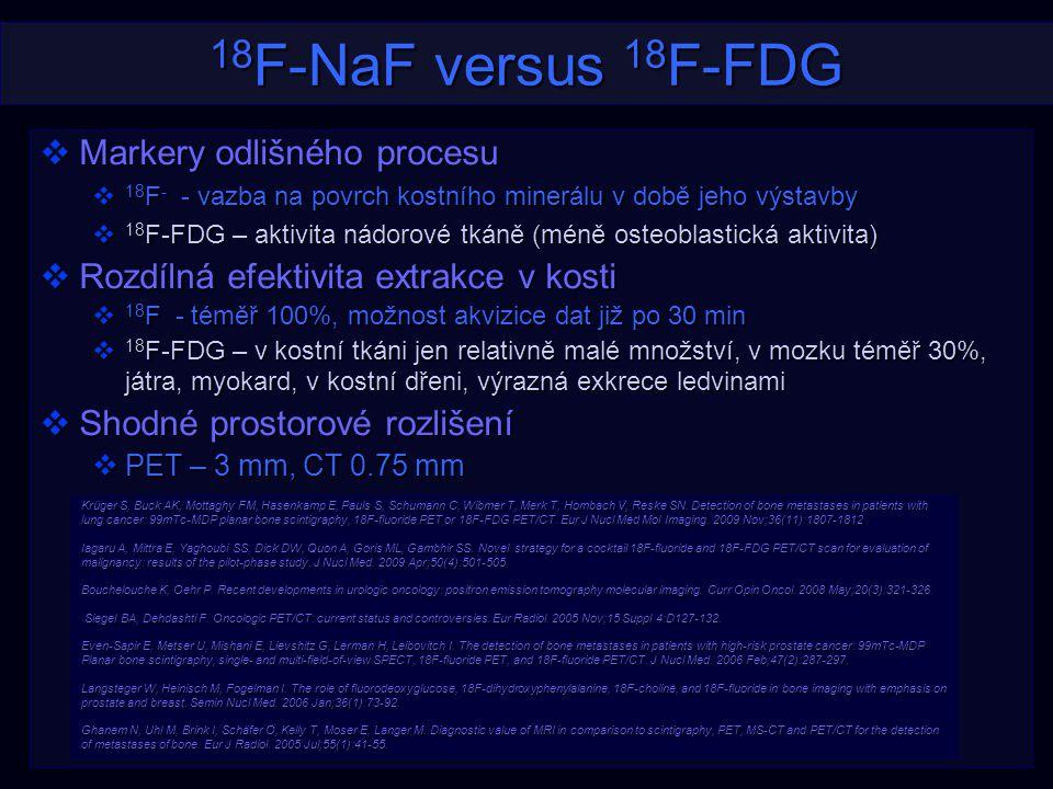 18F-NaF versus 18F-FDG Markery odlišného procesu