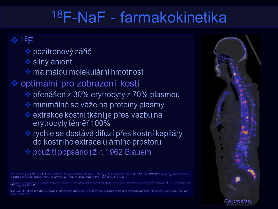 18F-NaF - farmakokinetika