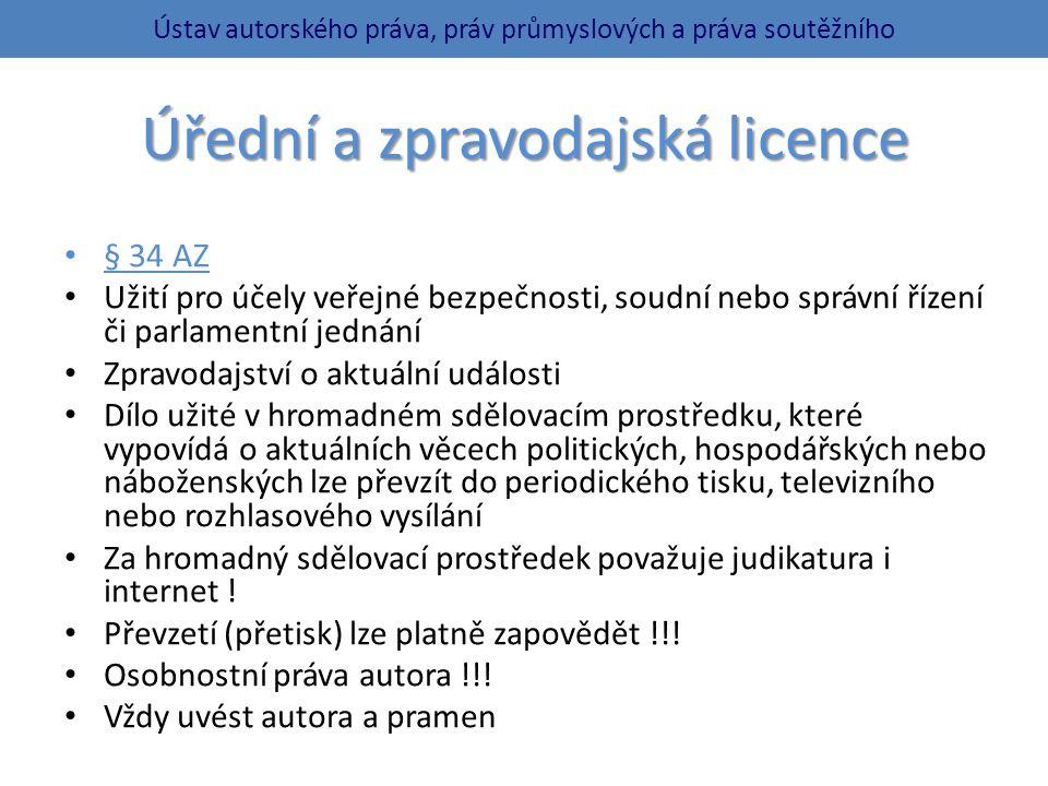 Úřední a zpravodajská licence