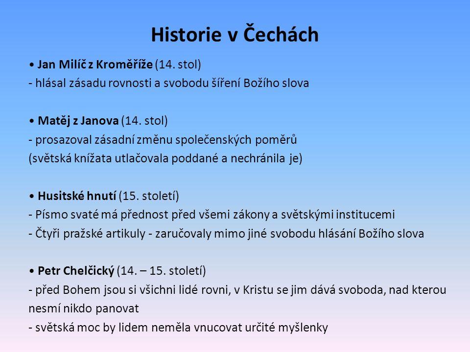 Historie v Čechách • Jan Milíč z Kroměříže (14. stol)