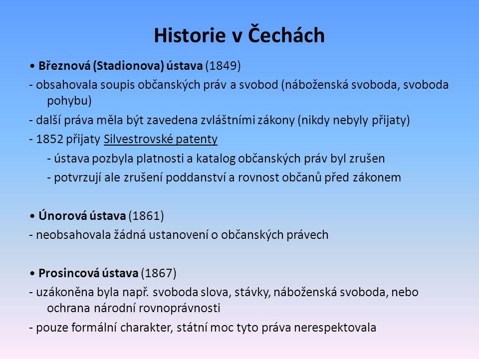 Historie v Čechách • Březnová (Stadionova) ústava (1849)