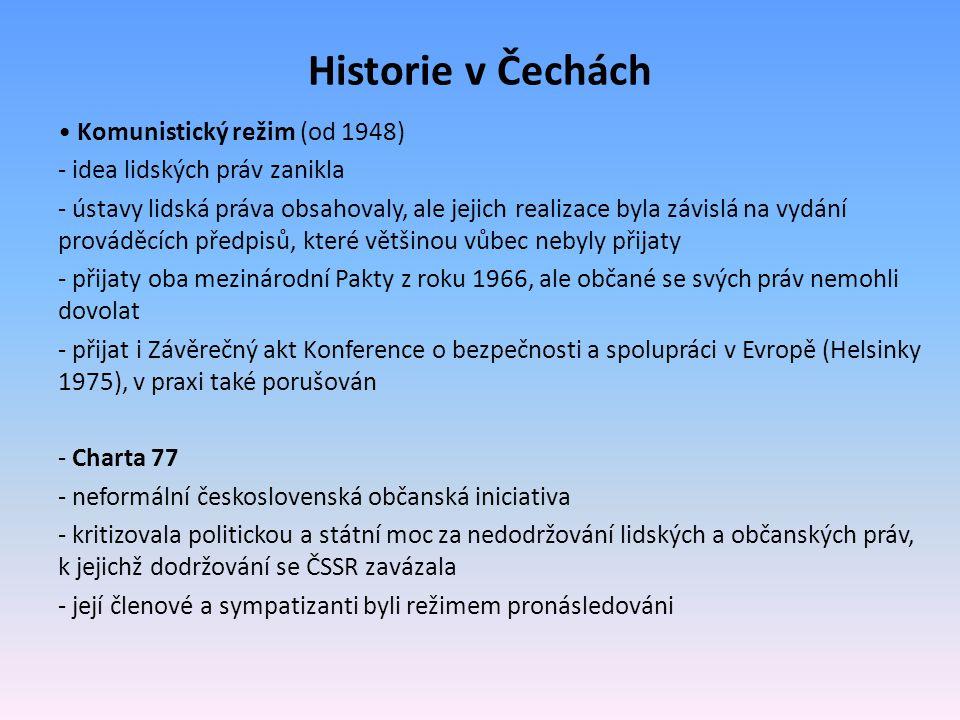 Historie v Čechách • Komunistický režim (od 1948)